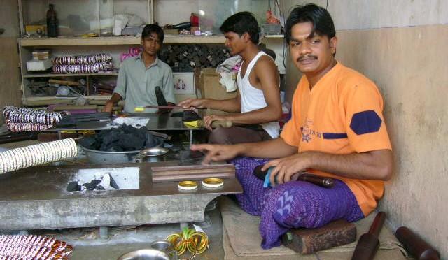 Bangle making in India
